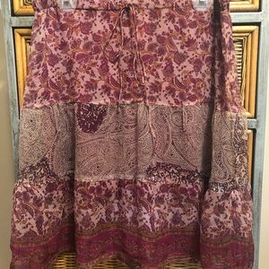 Guess jeans pattern skirt small